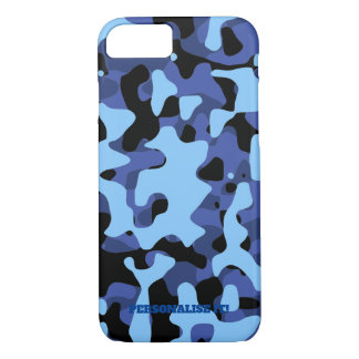 Blue Military Camouflage iPhone 8/7 Case
