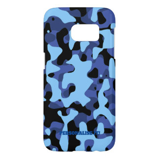 Blue Military Camouflage Samsung Galaxy S7 Case