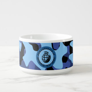 Blue Military Camouflage with grenade Bowl