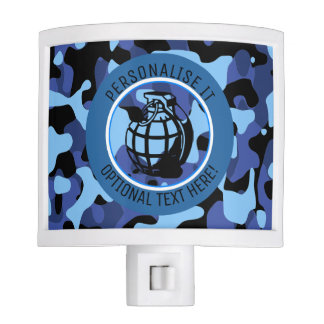 Blue Military Camouflage with grenade Night Light