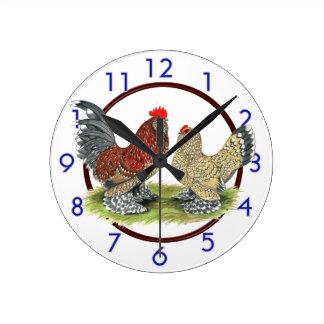 Blue Mille Fleur Bantams Clock