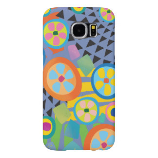 Blue Millefiori Abstract Garden Print Samsung Galaxy S6 Cases