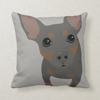 Blue Min Pin Owner Throw Pillow