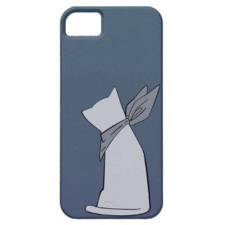 Blue Minimalist Cat iPhone 5 Case
