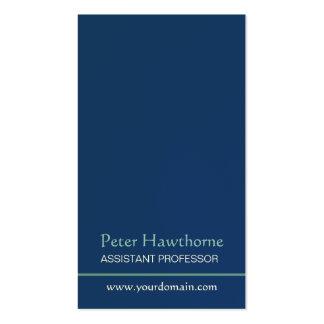 Blue Minimalist Minimal Plain Professional Design Business Card