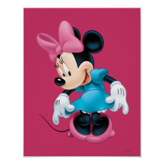 Blue Minnie | Curtseying Poster