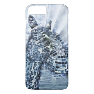 Blue mirror mosaic horse Case-Mate iPhone case