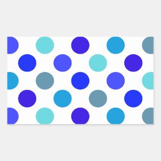 Blue Mixed Polka Dots Sticker