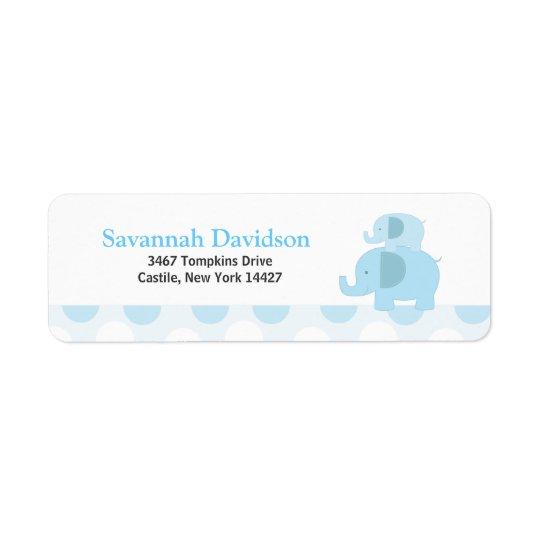 Blue Mod Elephants Custom Address Label (30)