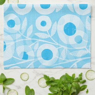 Blue-Mod-Floral- Kitchen Towel