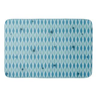 Blue Mod Hourglass & Sputniks Bath Mat