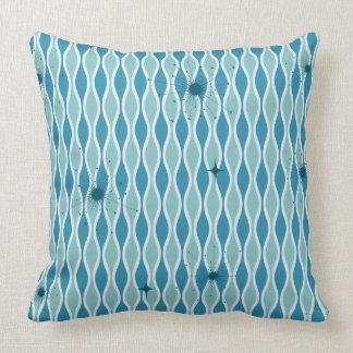 Blue Mod Hourglass & Sputniks Pillow