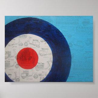 Blue mod target poster