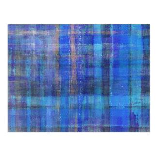 Blue Modern Abstract Art Postcard