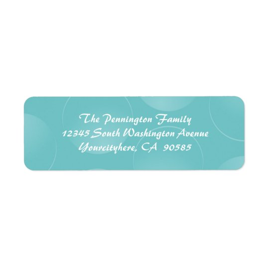 Blue modern bubbles return address envelope labels