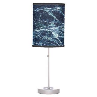 Blue modern marble pattern desk lamp