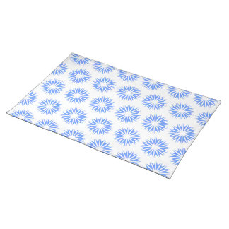 Blue Modern Sunbursts Placemat