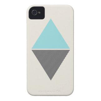 Blue Modern Triangles Case Mate  iPhone 4 Case