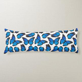 Blue Monarch Butterfly Pattern Body Pillow