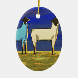 Blue Monday Ceramic Ornament