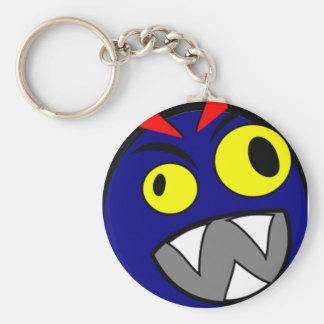 blue-monhi basic round button keychain