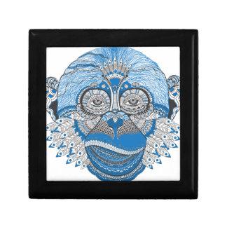 Blue Monkey Art Jewelry Boxes