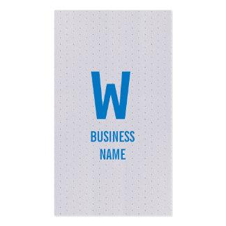 Blue Monogram Commercial Director Business Card