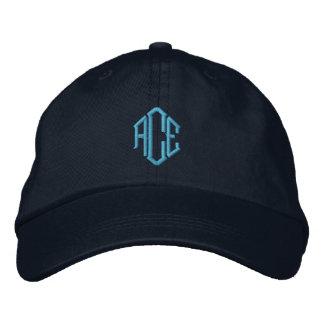 Blue Monogram Embroidered Baseball Cap