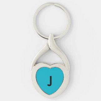 Blue Monogram Keychain