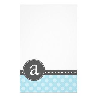 Blue Monogram Stationery Paper