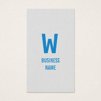 Blue Monogram Swim Instructor Business Card
