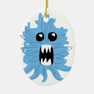 Blue Monster Baby Shirt Ceramic Oval Ornament