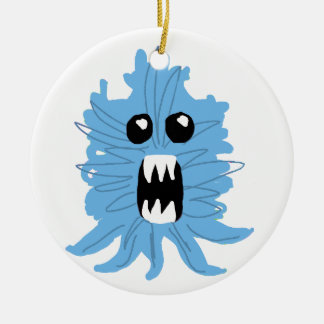 Blue Monster Baby Shirt Round Ceramic Ornament