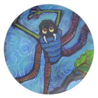 blue monster bug plate