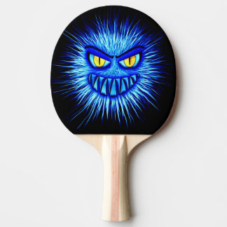 Blue Monster & Fire Orb Ping Pong Paddle