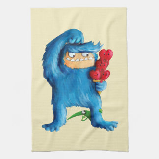 Blue Monster Ice Cream Kitchen Towels