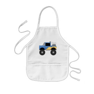 Blue Monster Truck Tshirts and Gifts Kids Apron