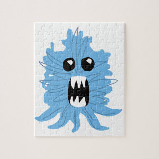 Blue Monster Wrapping Paper Jigsaw Puzzle