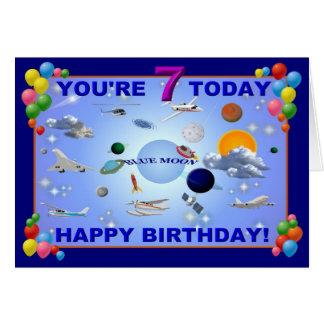 BLUE MOON   7th. Birthday card
