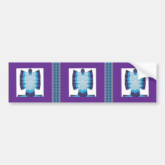 Blue Moon Angel Butterfly made of Cotton Fabric 99 Bumper Sticker