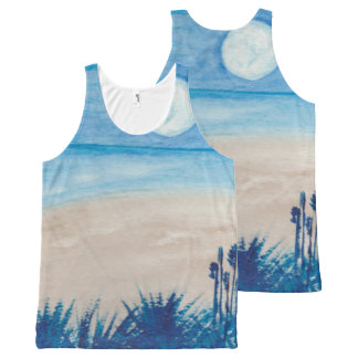 Blue Moon at the Beach All-Over-Print Tank Top