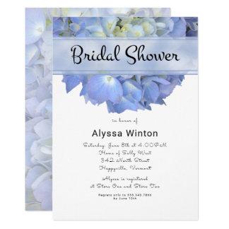 Blue Moon Big Hydrangea Bridal Shower Invitation