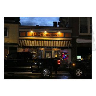 Blue Moon Cafe Christmas, Customizable Card