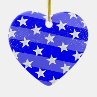 Blue Moon Ceramic Heart Ornament