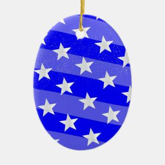 Blue Moon Ceramic Oval Ornament