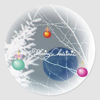 Blue Moon Christmas Sticker