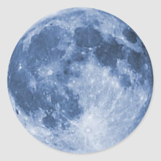 blue moon classic round sticker