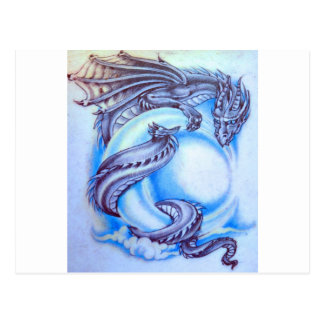 Blue Moon Dragon Postcard