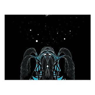 Blue moon dream shaman design postcard