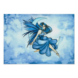 Blue Moon Fairy Poster